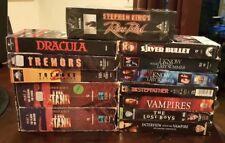Lot  12 Horror   VHS Movies Stephen King Dracula Vampires Rose Red ..