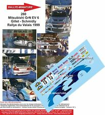 Decals 1/18 Ref 0260 Mitsubishi Lancer Gillet Rally of Valais 1999 Rally