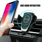 US 10W Qi Wireless Car Charger 2In1 Gravity Bracket For iPhone X 8Plus 11 XR XS