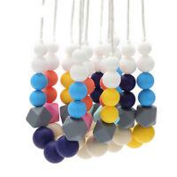 Hexagon Silicone Teething Necklace Teether Baby Chew Sensory Jewelry BPA Free