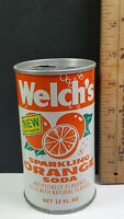 Welchs Orange Can Flat Pull Tab Top Rare Vintage