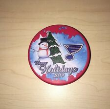 Happy Holidays 2020 St Louis Blues Limited Edition Hockey Puck NHL STL Hard2Find