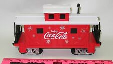 Lionel new Coca-Cola Holiday G-Gauge caboose