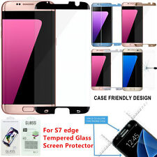 3,6,12x Lot Case Friendly Tempered Glass Screen Protector Samsung Galaxy S7 Edge