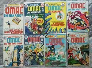 OMAC #1 2 3 4 5 6 7 8 Key Bronze Age DC Lot 1st App Jack Kirby 7.5 VF- - 9.2 NM-