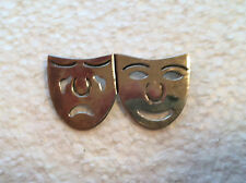 Comedy & Tragedy Mexico Vintage Sterling Silver Pin