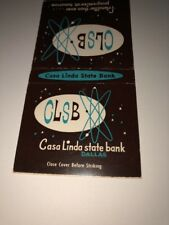 Vintage Matchbook Cover Casa Linda State Bank Dallas Texas