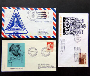 FDC Foreign Stamp Covers, NASA Shuttle, Children, European, Denmark, Conference