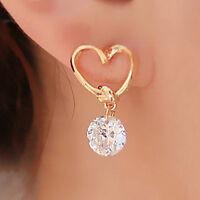 New Women Earring Silver Plated Ear Hook Rhinestone Earrings Fashion Jewelry New