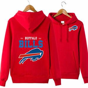 Buffalo Bills Football Hoodie Pullover Hooded Sweatshirt Fans Casual Jacket gift