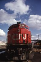 CN CANADIAN NATIONAL Railroad Diesel Locomotive 9496 Original 1976 Photo Slide