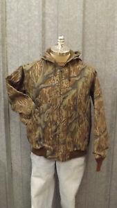 Vtg NEW Mossy Oak Original Tree Stand Camo Duck Cotton Canvas Jacket sz M USA