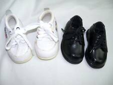 Lot of 2 Baby Size 2 Boy's Shoes White Leather Gerber & TKS Black Dress