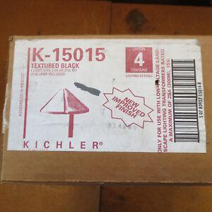 Kichler 15015-BKT Black Outdoor Landscape / Path Light (Head Only) 4-Pack