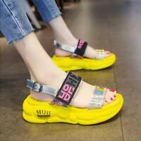 Summer Women Rhinestone Casual Non-slip Shoes Comfort Sneakers Platform Sandal