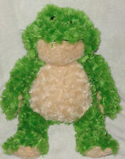 """Ganz Bellifuls Plush Green Frog Cream Belly & Feet 17"""" Stuffed Animal Toy"""