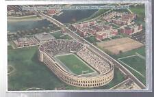 Harvard Stadium,Business School,Cambridge Massachusetts Linen Postcard 1950'S Ex