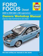 Haynes Ford Focus 1.6, 1.8 & 2.0 Diesel 2005 - 2011 Manual NEW 4807