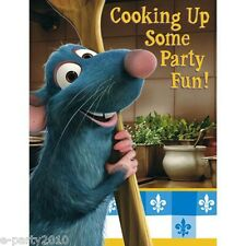 RATATOUILLE INVITATIONS (8) ~ Birthday Party Supplies Stationery Invites Notes