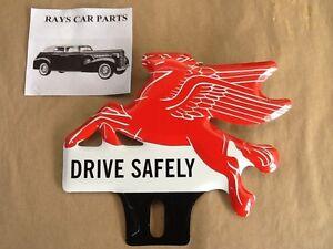 PEGASUS DRIVE SAFELY LICENSE PLATE TOPPER DODGE PONTIAC OLDS 36 37 38 39 40 41