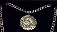 "UNISEX Genuine Jade Dragon Sterling Silver Pendant & 20"" Necklace+Gift Box*****"
