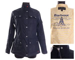 Women's BARBOUR Black Multipocket Avonmouth Wax Cotton Jacket Size uk 10 us 6