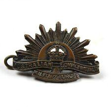 Wwi Australian Commonwealth Military Forces Cap Collar Insignia Badge Lug Back