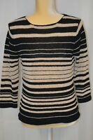 COLDWATER CREEK Women's Lightweight Pullover Sweater with 3/4 Sleeves - Size Med