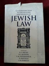 An Introduction to the History and Sources of Jewish Law by Oxford University...
