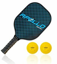 Apollo Graphite/Carbon Fiber Pickleball Paddle, Balanced Weight, Honeycomb Core