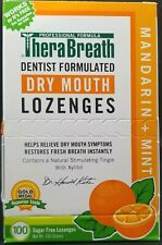 TheraBreath Dry Mouth Lozenges Tart Berry Flavor 100 Lozenges New