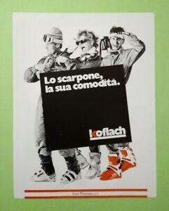 Pubblicita'Advertising Originale Vintage KOFLACH scarpone montagna 1986 (A25)