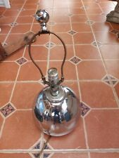 1960's Chrome Ball Lamp Cool ! Estate Electric