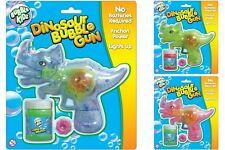 Bubble Kidz Dinosaur Bubble Gun Light Music Friction Power No-Batteries Kids Toy