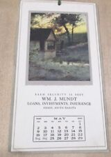 May 1920  Art Calendar Osborne Co NY Wm J Mundt Pierre S Dakota >