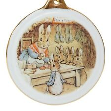 Reutter Peter Rabbit 150th Anniversary Porcelain Christmas Tree Ornament