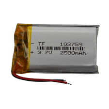 3.7V 2500 mAh Polymer rechargeable Li battery For PDA GPS DVD Tablet PC 103759