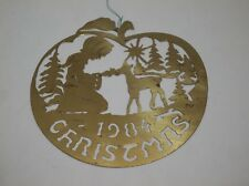 Vintage Biedermann Christmas Ornament 1984 BRASS