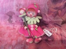 "OOAK One Of A Kind 4"" miniature little girl Izzy baby clown with Wand by Shell"