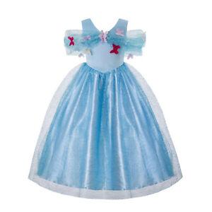 Kids Girls Cinderella Princess Fancy Dress Toddler Cosplay Party Costume  4-8Y