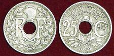 FRANCE 25 centimes 1918