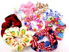 Handmade Flannel Scrunchies Hair Ties Band Holder ~9 Styles to Choose From