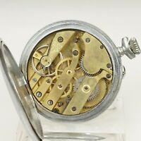 Rare! Mechanische Taschenuhr Herren Uhr Uhren no spindel chronometre armbanduhr