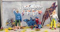 1/35 Resin 3 Graffiti Writers Painters W/Ladder Unpainted Unassembled BL635