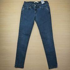 Levi's 535 Skinny Legging Women Jeans Embellish Black Wash Denim Sz 11M 30x32