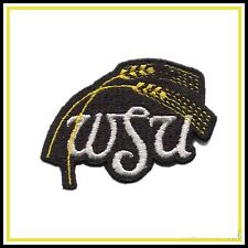 "WSU Wichita State University Shockers Vintage Embroidered Sew-On Patch 2.7"" x 2"""