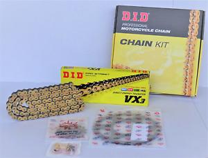 Kawasaki ZZR 600 E 1993-2006 - DID Kettensatz chain kit VX3 530 G&B gold
