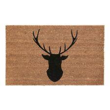 Deer Doormat Natural Coir Non Slip Floor Entrance Stag Head Matting Outdoor New