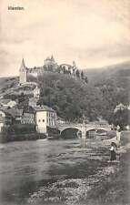 Vlanden Luxembourg birds eye view showing castle bridge antique pc Z17996