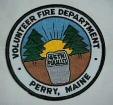 NEW Embroidered Uniform Patch VOLUNTEER FIRE DEPARTMENT PERRY MAINE NOS